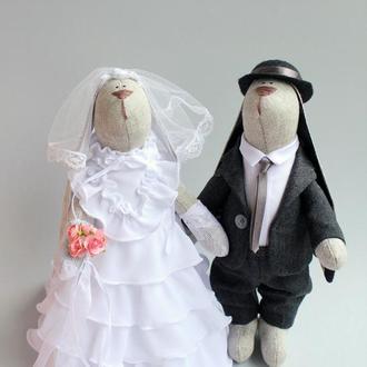 Свадебная пара зайчиков Ретро