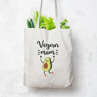 Экосумка Vegan mom/ Эко сумка / Сумка женская / сумка-шоппер / Торба
