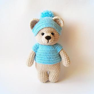 Вязаная игрушка. Медвежонок.