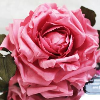 Роза из шелка «Доминика». Цветы из ткани.