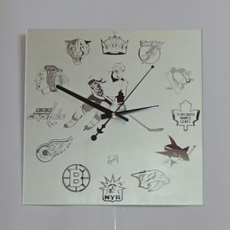 """Хоккей """"NHL-2"""" зеркальные настенные часы"""