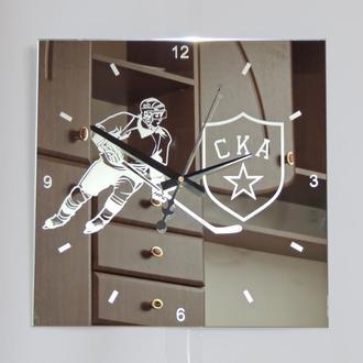 """Хоккейные настенные часы """"СКА"""""""