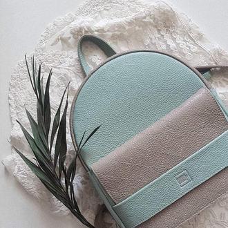 Рюкзак  Hansel .Стильный женский рюкзак .Кожаный женский рюкзак .Шкіряний рюкзак .