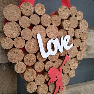 Декор ко дню Валентина, веночек-серце  на двери, стену