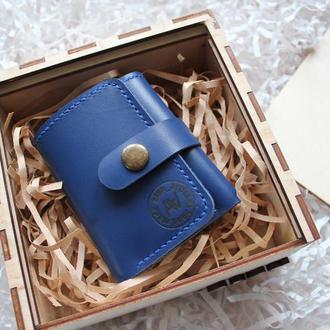 Кожаный кошелек для карточек и купюр