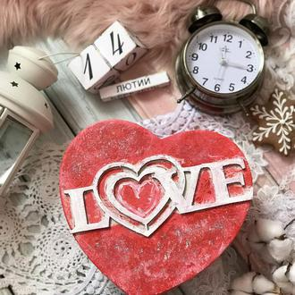 Коробочка- валентинка love