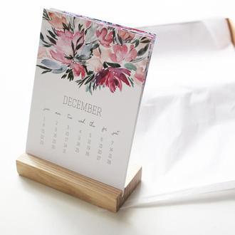 Цветочный настольный календарь на 2019 год