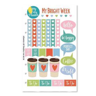 НАЛІПКИ «MY BRIGHT WEEK», наклейки, стикеры