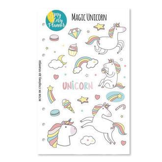 НАЛІПКИ «MAGIC UNICORN», наклейки, стикеры