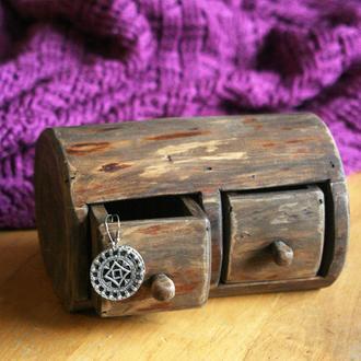 Скринька з дерева на два відділення