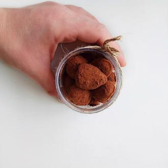 """Скраб сахарный ,, Трюфель"""" с какао и молотым кофе"""