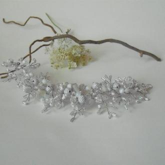 Свадебное украшение для прически невесты