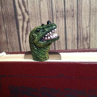 Закладка для книги Динозавр 3D. Bookmark dinosaur, park Jurassic period