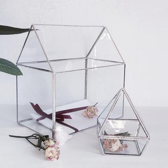 Комплект свадебных аксессуаров из стекла