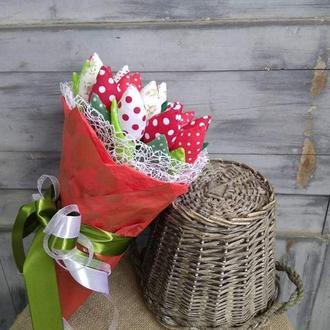 Текстильные тюльпаны