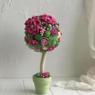 Дерево счастья Розовый топиарий