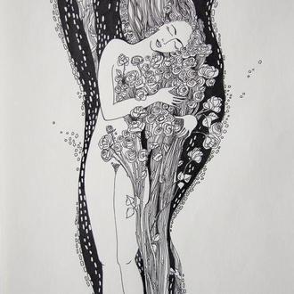 """Графический рисунок """"Нежность"""""""
