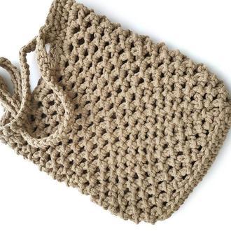 Авоська, сумка с трикотажной пряжи
