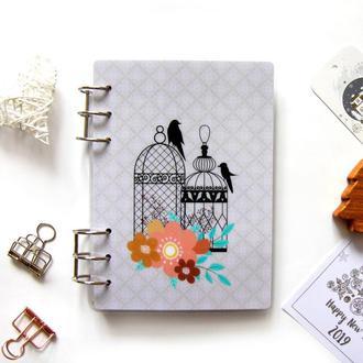 Датированный ежедневник (планер, ежедневник) на 6 месяцев (январь-июнь) MY COZY PLANNER Птицы