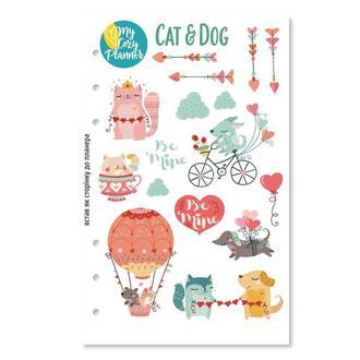 Наліпки «CAT AND DOG», наклейки, стикеры