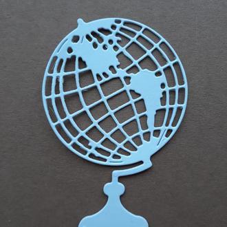 картонная вырубка Глобус