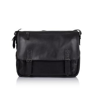 Мужская кожаная сумка (наппа) через плечо с ручкой TARWA, GA-6046-1md