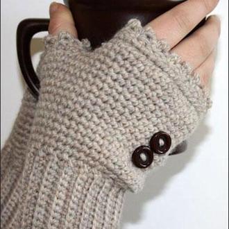Митенки Теплое кофе