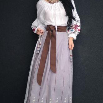 """Вышитый костюм """"Древние мотивы"""" костюм с ручной вышивкой"""