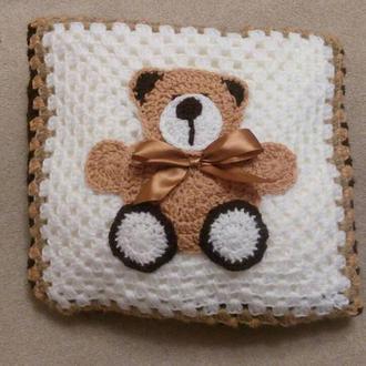 Супертепла в'язана дитяча ковдра (плед)/ Супертеплое вязаное детское одеялко (плед)