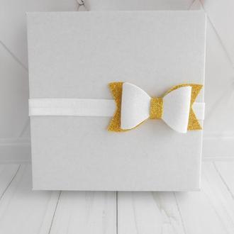 Бантик на повязке для малышки на годик Украшение для волос девочке на фотосессию Подарок на праздник
