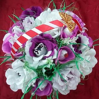 Букет из конфет- подарок на 8 марта, день рождения
