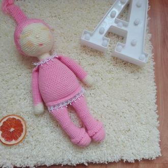 Пупсик девочка-сплюша. Связанная крючком