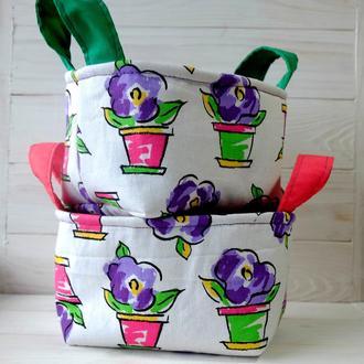 Текстильные, интерьерные корзинки для хранения 01//Текстильні, інтер'єрні кошики для зберігання 01