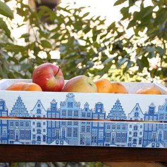 Деревянный ящик для фруктов Амстердам