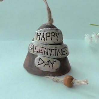 Колокольчик Happy Valentine's Day