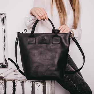 """Сумка """"B-Bag"""" сумка из кожи через плечо, шкіряна сумка, женская сумка из натуральной"""