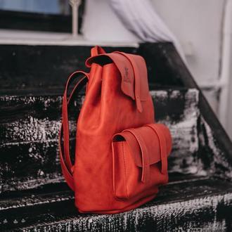 Рюкзак TEXAS из натуральной кожи, рюкзак ручной работы, шкіряний рюкзак, рюкзак женский кожаный