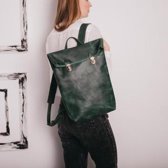 Рюкзак POST для ноутбука, рюкзак женский, рюкзак кожаный, городской рюкзак, шкіряний рюкзак