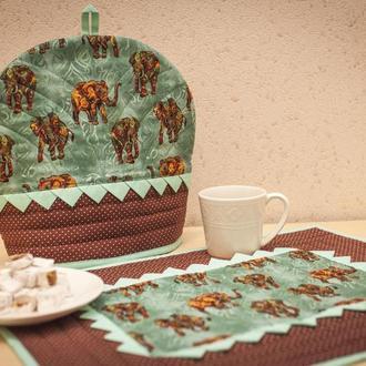 Комплект для кухни: грелка на чайник и салфетка