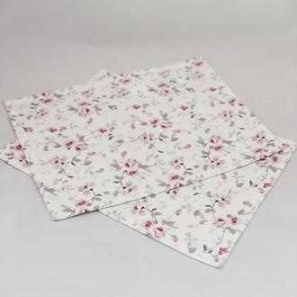 Салфетки кухонные 2 шт с розовыми цветами. Салфетка для сервировки. Декоративная салфетка.