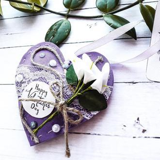 Валентинка-подушечка из фоамирана-подарок на День Святого Валентина