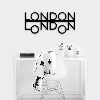 """Деревянная картина """"LONDON"""""""