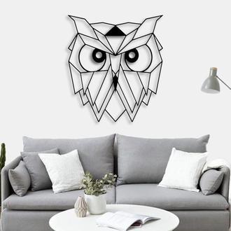 "Деревянная картина ""OWL HEAD"""