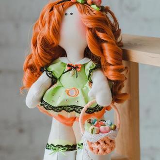 Кукла большеножка ′Моника′ - персиковая девочка