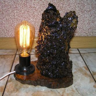 """Декоративный светильник из дерева """"Собачка"""""""