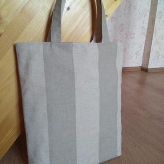"""Эко-сумка, тканевая сумка """"Любимые цвета"""" ручной работы двухсторонняя"""