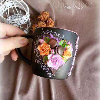 """Кружка Чашка  """" Сладкое сердце """" Любимая, Подарок на день Святого Валентина"""