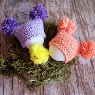 Вязаные шапочки на пасхальное яйцо