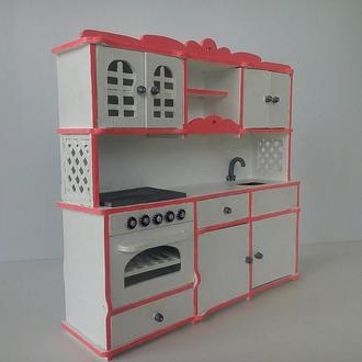 Кухня для кукол барби. Игрушечная кухня для кукол и кукольных домиков