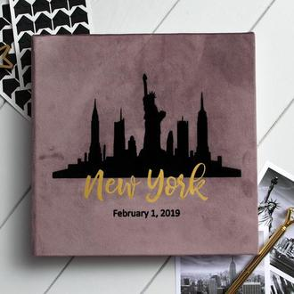 Альбом для фото, Love story альбом, Річниця весілля, Подарок жене, Нью Йорк альбом
